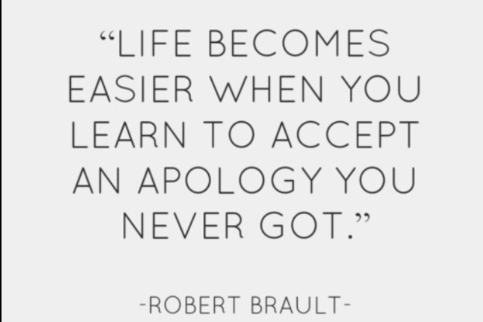 How To Accept The Apology You Never Received